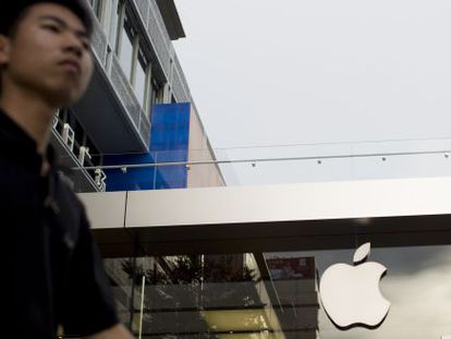 Loja da Apple na cidade chinesa de Shenzhen.