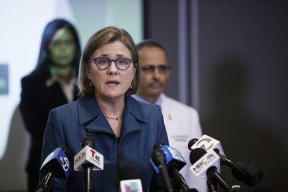 Sara Cody, secretária de Saúde do condado de Santa Clara, Califórnia, em entrevista coletiva em março.