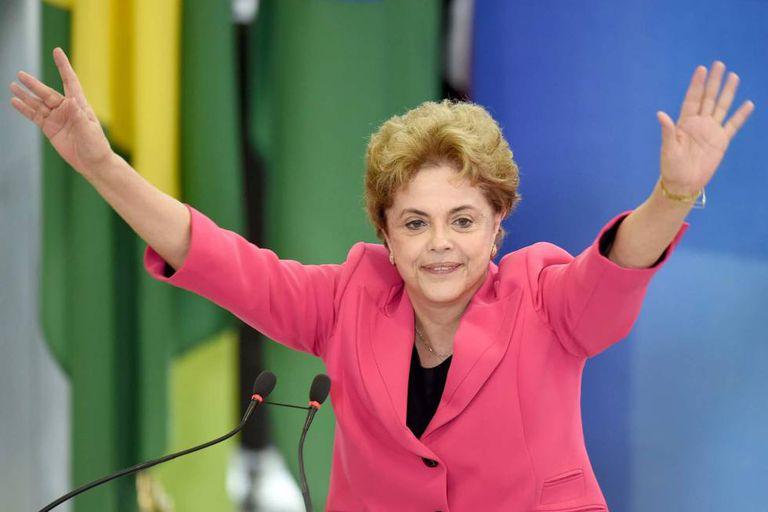 A presidenta Dilma Rousseff, em evento no Palácio do Planalto.