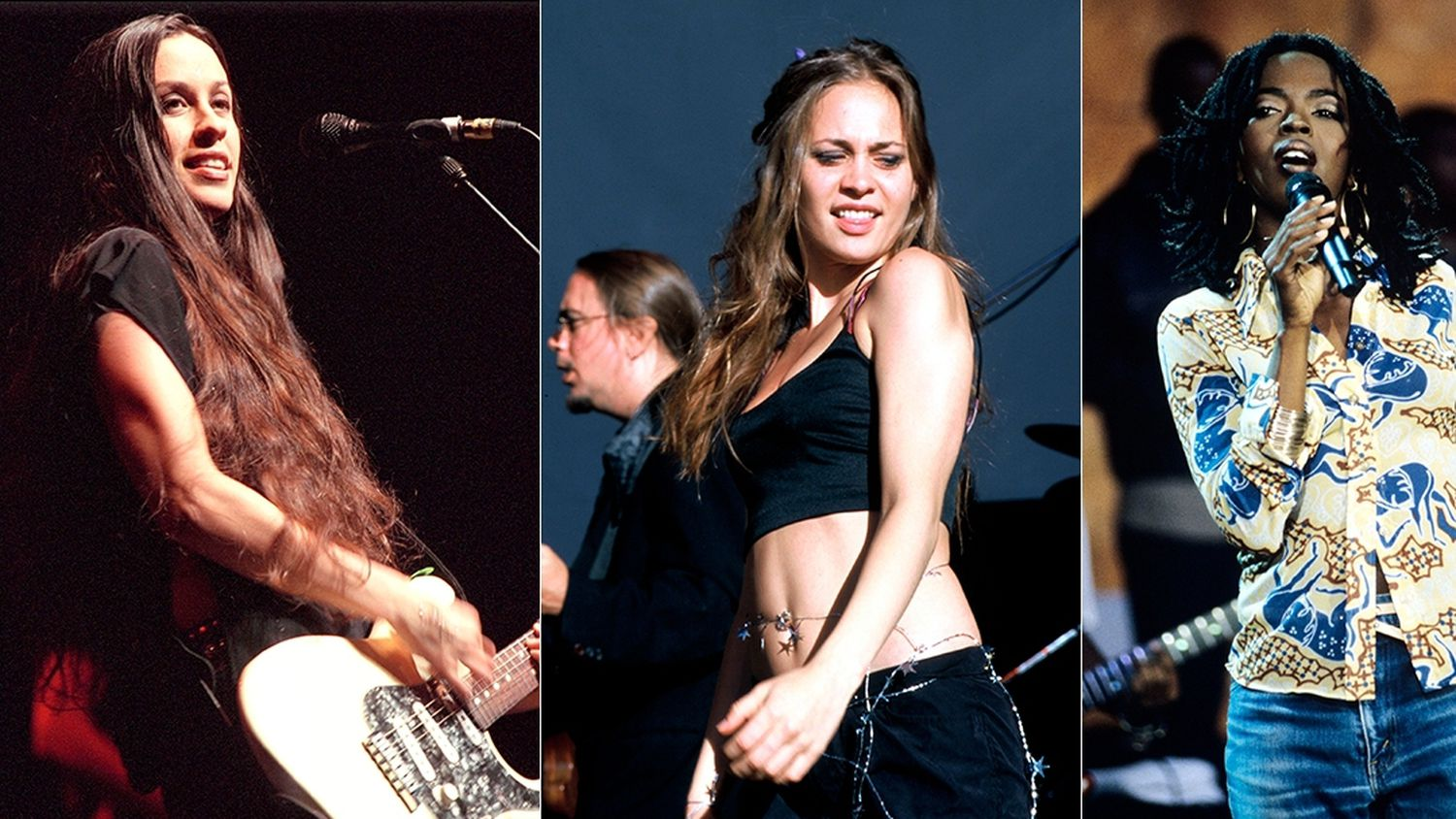 Alanis Morissette, Fiona Apple e Lauryn Hill.