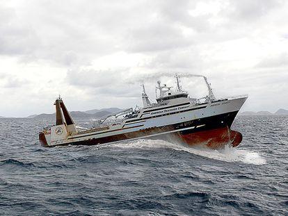 O barco pesqueiro 'American Dynasty', da empresa norte-americana American Seafoods.