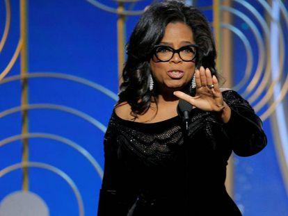 Oprah Winfrey, durante seu discurso no Globo de Ouro