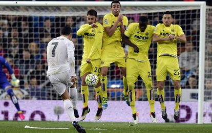 Cristiano Ronaldo, contra o Villarreal.