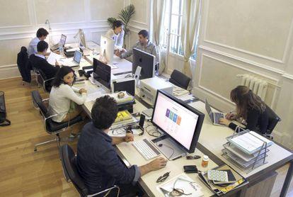 Espaço de coworking em Madri.
