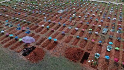 Cemitério de San Juan Bautista em Iquitos, Peru, em 20 de março.