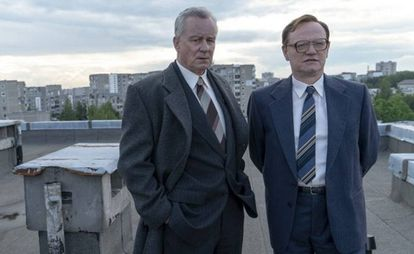 Stellan Skarsgård e Jared Harris, protagonistas do último grande fenômeno televisivo