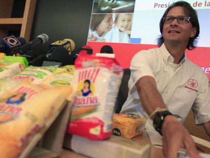 Lorenzo Mendoza, proprietário das Empresas Polar, em Caracas em 2013.