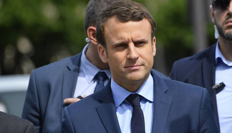 Emmanuel Macron em Paris.