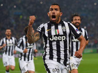Tévez festeja gol sobre o Real Madrid nas semifinais da Champions.