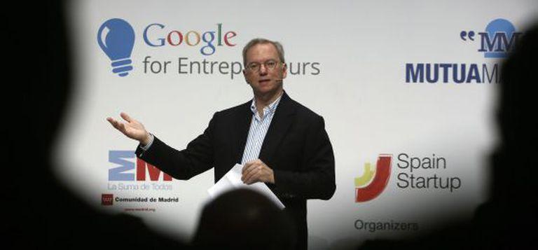 Eric Schmidt, presidente do Google, durante uma visita à Espanha.