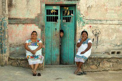 Descendentes dos rebeldes maias Cruzoob no povoado de Felipe Carrillo Puerto, Estado de Quintana Roo.