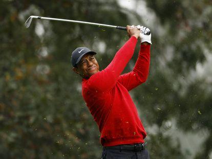 Tiger Woods durante o último Augusta Masters em 2020.