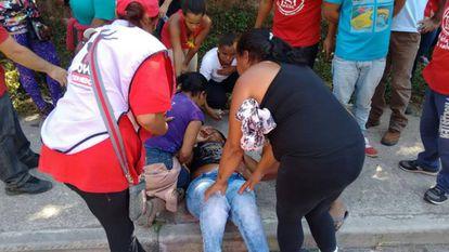 Edilma dos Santos foi ferida em Itapecerica.