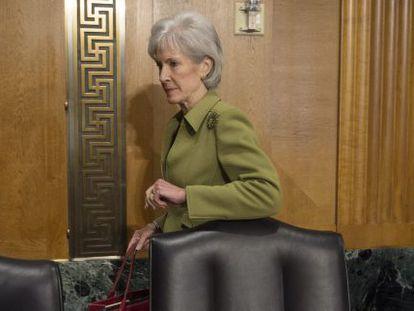 A secretária de Saúde dos EUA, Kathleen Sebelius.