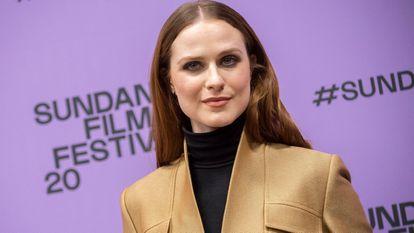 A atriz Evan Rachel Wood no Festival de Cinema de Sundance, em janeiro de 2020.