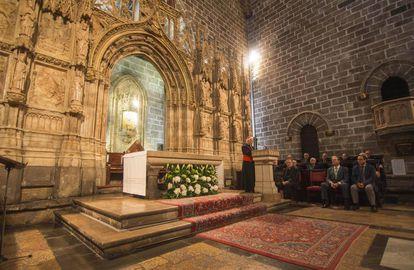 A capela do Santo Graal da catedral de Valência.