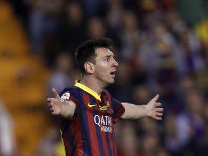 Messi no jogo contra o Real Madrid no último dia 16.