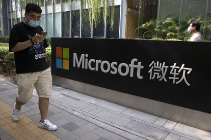 Filial da Microsoft de Pequim, em agosto de 2020.