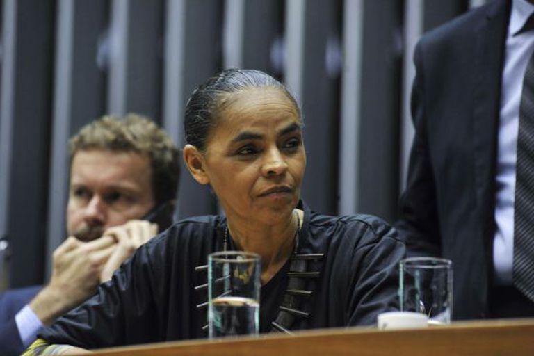 Marina Silva, em sessão no Congresso em abril.