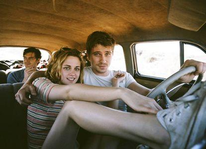 Kristen Stewart e Garrett Hedlund no filme de Walter Salles 'Na Estrada' (2012).