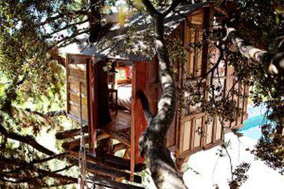 Cabana instalada a três metros de altura em Granada (Espanha).