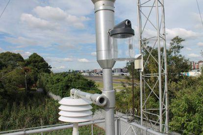 Estação de controle da qualidade do ar da Cidade da Guatemala.