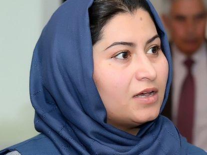 A jornalista afegã Humira Saqib.