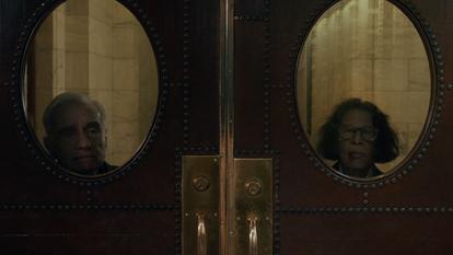 Martin Scorsese e Fran Lebowitz em um instante do sétimo capítulo de 'Faz de conta que NY é uma cidade'.