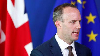O ministro britânico para o 'Brexit', Dominic Raab, em Bruxelas.