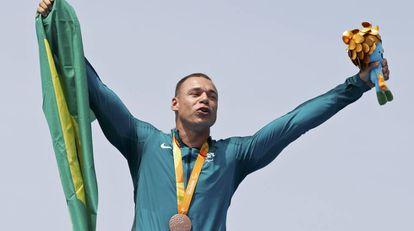Caio Ribeiro conquistou a medalha de bronze nos 200m da canoagem de velocidade categoria KL3.