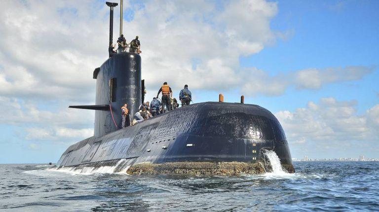 O submarino ARA San Juan em uma foto de arquivo