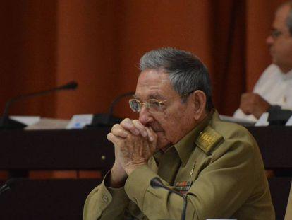 Raúl Castro na Assembleia Nacional.
