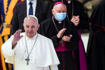 O papa Francisco em uma audiência no Vaticano nesta quarta-feira.