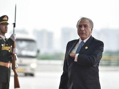 Michel Temer representando o Brasil no G-20.