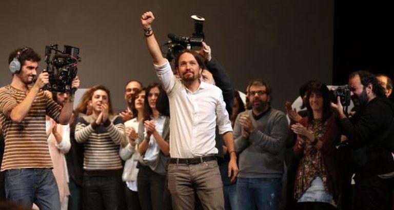 Pablo Iglesias na Asamblea Ciudadana de noviwmbre.