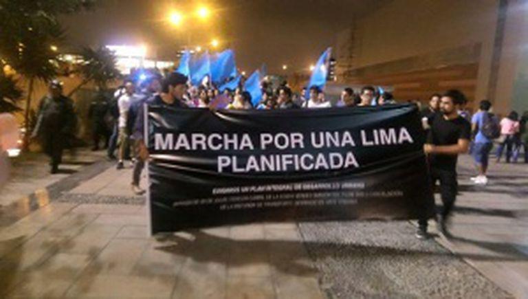 Marcha em Lima na sexta-feira em defesa do urbanismo da cidade.