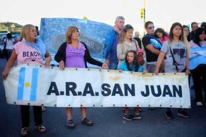 Familiares dos 44 tripulantes do 'ARA San Juan'.
