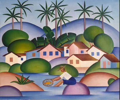 'O Pescador', de Tarsila do Amaral.