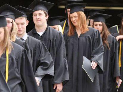 A maioria dos estudantes universitários nos EUA está endividado ao se formar.