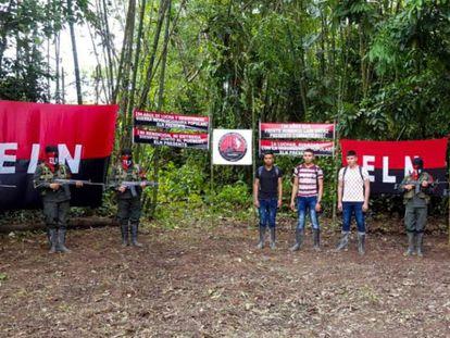 Libertação de três militares sequestrados pelo ELN em Arauca, em setembro de 2018.
