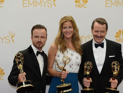 Os premiados pela série 'Breaking Bad'.