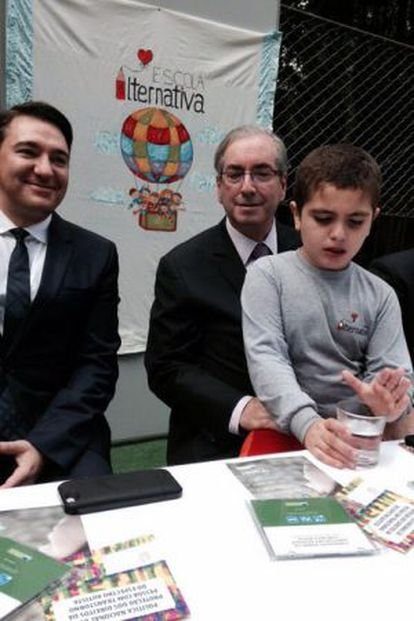 Eduardo Cunha no lançamento de cartilha da Campanha Nacional de Conscientização do Autismo no Paraná, nesta sexta-feira.