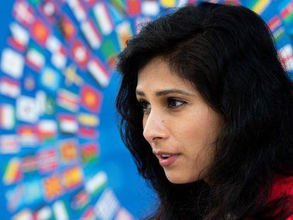 A economista-chefe do FMI, Gita Gopinath, na última quarta-feira.
