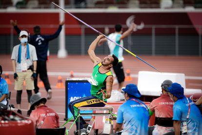 O medalhista Cícero Nobre, que conquistou a prata no lançamento de Dardo.