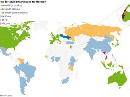 Do que as pessoas ao redor do mundo têm medo?