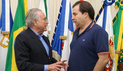 Temer e Rodrigo Maia.