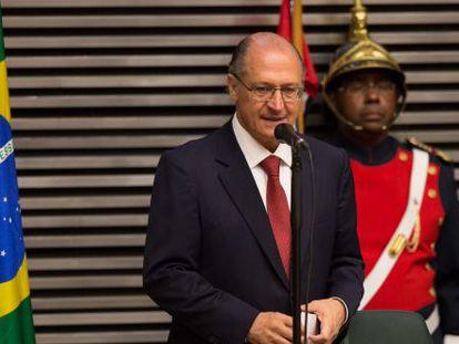 Alckmin discursa ao tomar posse.