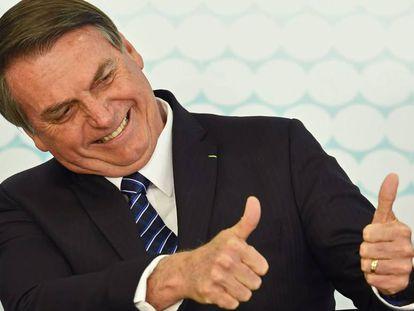 O presidente Jair Bolsonaro na última sexta-feira em Brasília.
