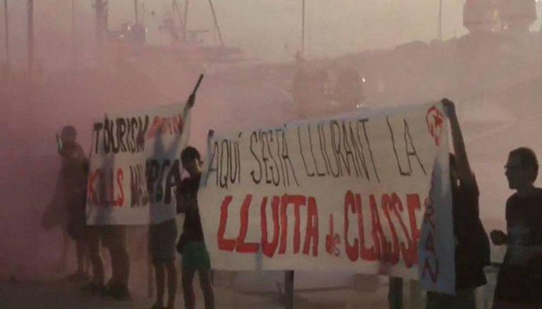 Ação do grupo Arran contra o turismo em Palma de Mallorca, em vídeo distribuído pela organização.