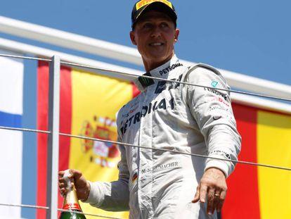 Michael Schumacher, em junho de 2012 em Valência.